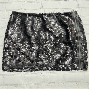 Bird by Juicy Couture Sequin Mini Skirt Black